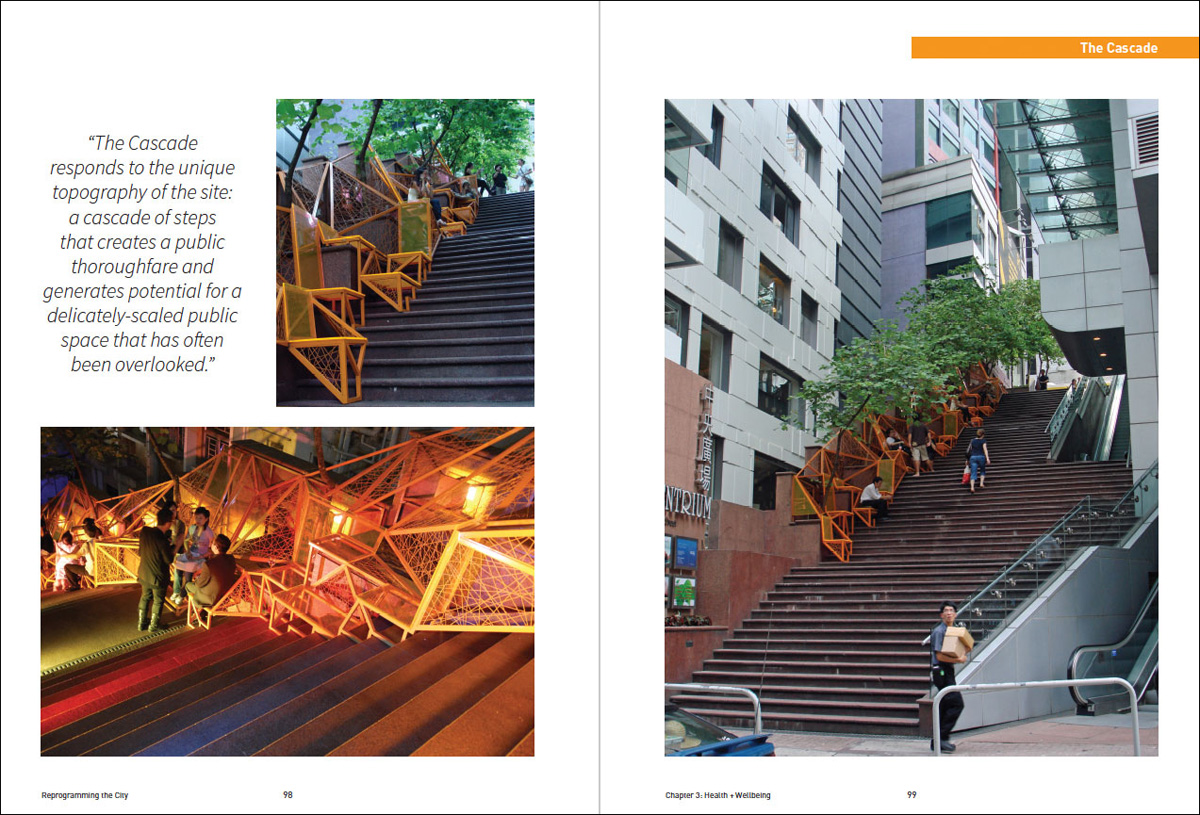 The Cascade, Hong Kong, transforming a central stairway into a place for rest and relaxation.